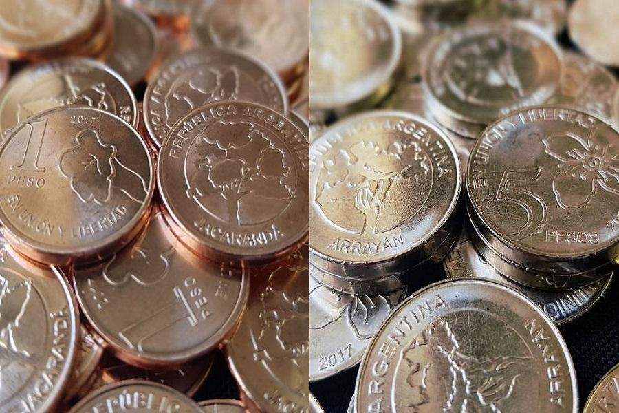 Entran en circulación las nuevas monedas de $ 1 y $ 5, con imágenes de árboles