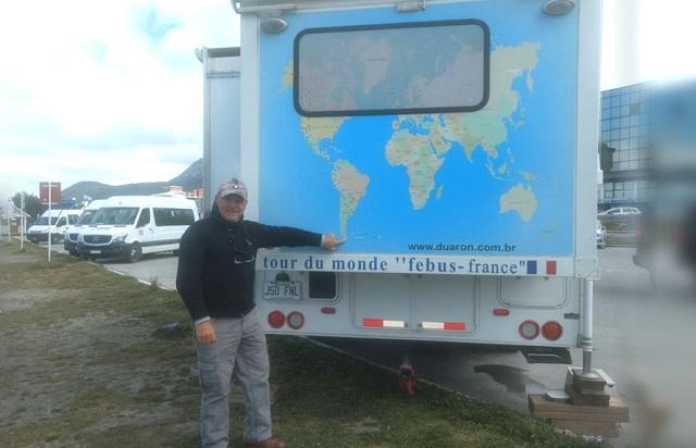 """Una pareja de viajeros franceses pasaron la Navidad en el """"Fin del mundo"""""""