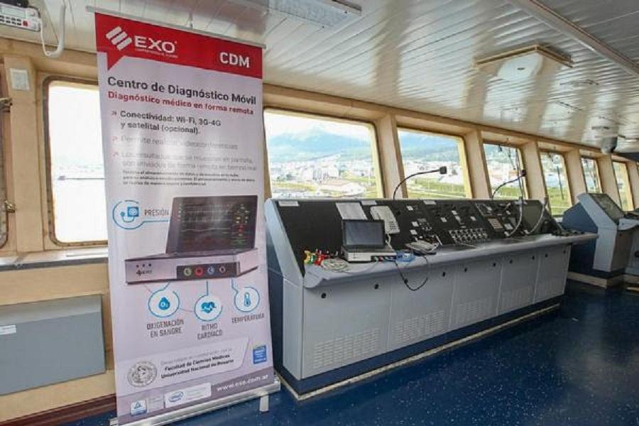 La provincia entregó equipamiento médico al ARA Almirante Irízar