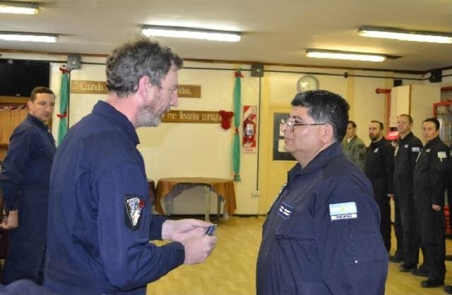 Un suboficial de la Base Marambio alcanzó el grado máximo de su carrera