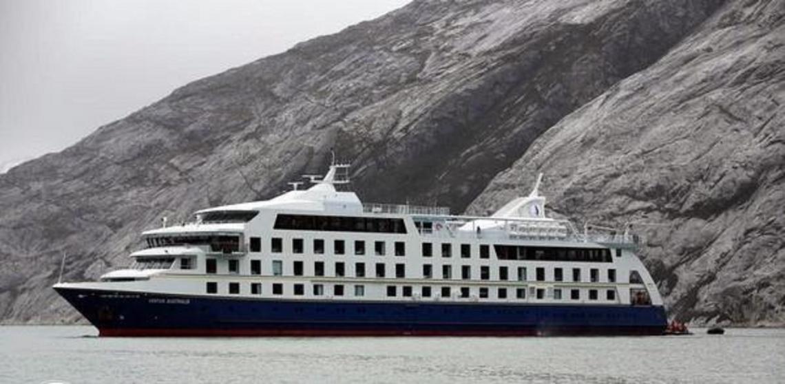 """El nuevo crucero """"Ventus Australis"""" llega a Tierra del Fuego"""