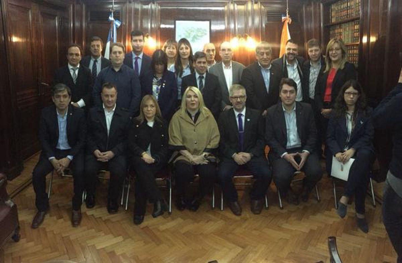Representantes fueguinos, unidos por la soberanía de Malvinas.