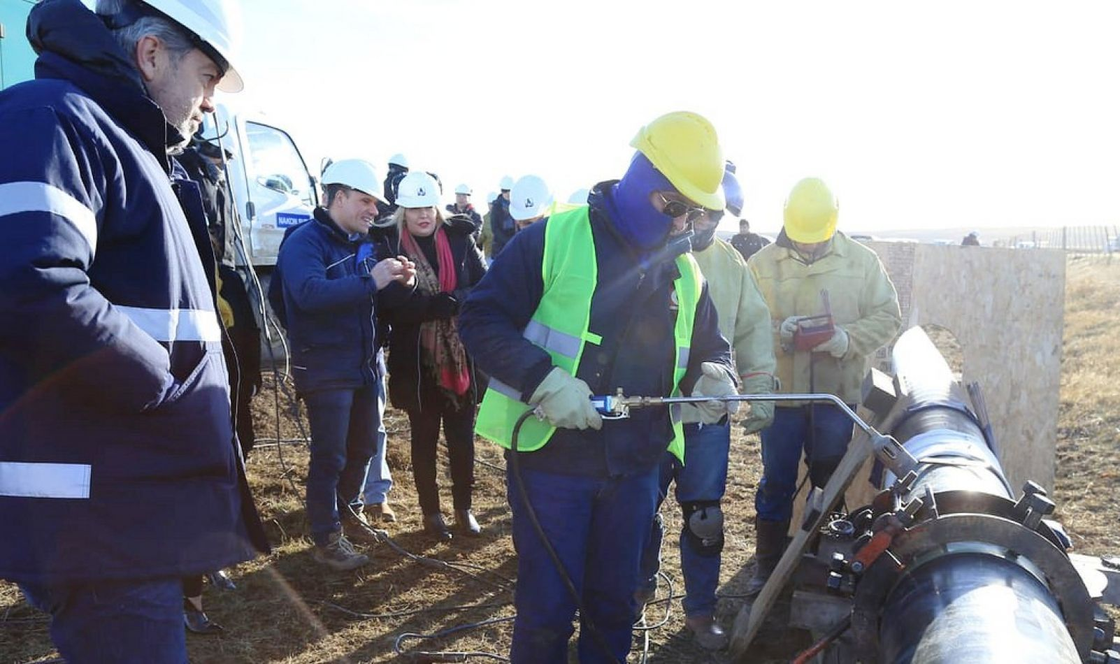 Se ejecuta la obra del refuerzo del gasoducto fueguino.