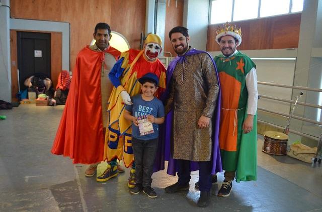 Los Reyes Magos llenaron el Polivalente de Arte de Ushuaia