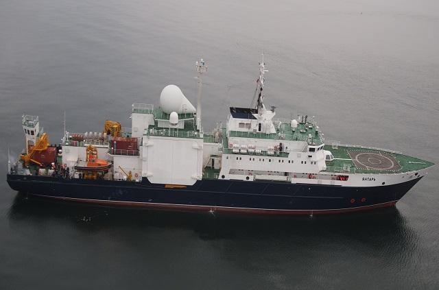 Yantar, buque ruso que se mantiene en la zona.