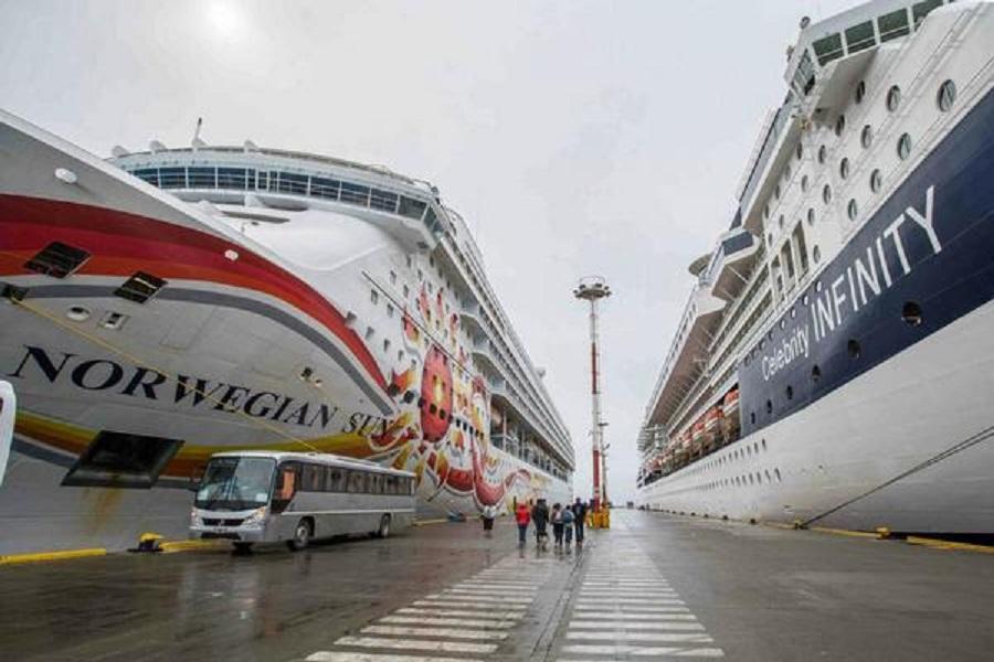 Más de 4.000 visitantes desembarcaron este fín de semana en Ushuaia