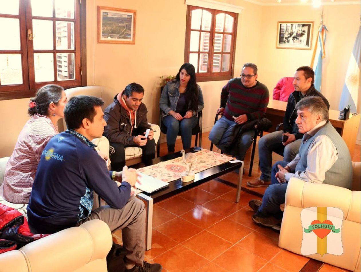 Reunión entre el Intendente de Tolhuin e integrantes de Ushuaia Loppet.
