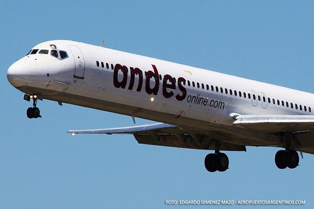 La línea aérea Andes suma vuelos entre Buenos Aires y Ushuaia