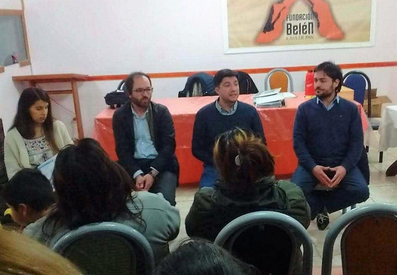 Del encuentro participaron Sebastián Enchieme, Diego Barrientos, Macarena Bianchi y Fermín Randon