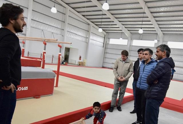 Nogar y Rossi visitaron el Centro Municipal de Gimnasia  Artística