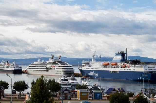 Cruceros: La temporada en el puerto del fin del mundo se vive a pleno