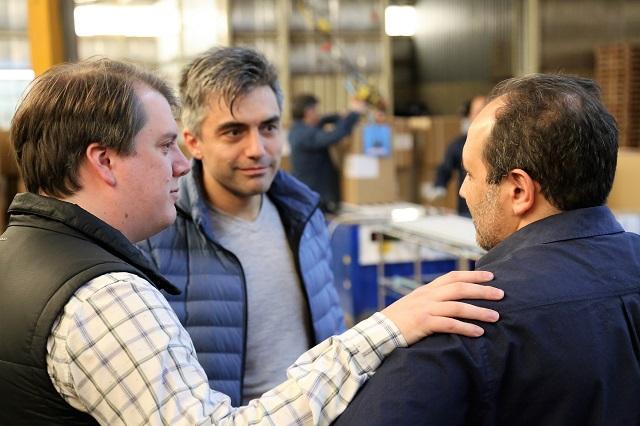 El concejal Paulino Rossi recorrió la reactivada planta de Foxman