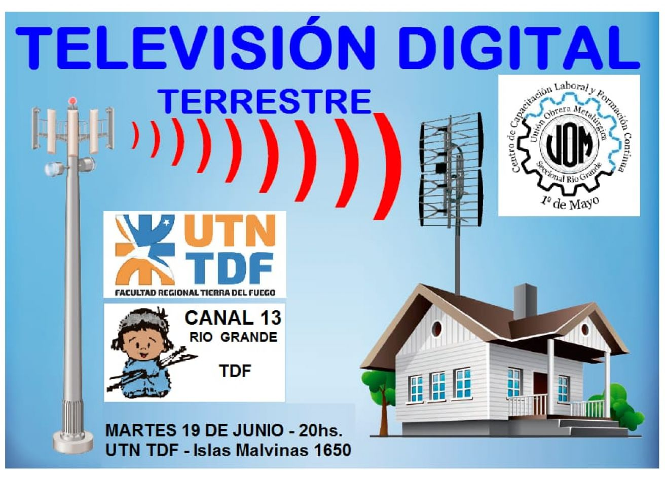 """Charla abierta a la comunidad sobre """"Televisión Digital Terrestre""""."""