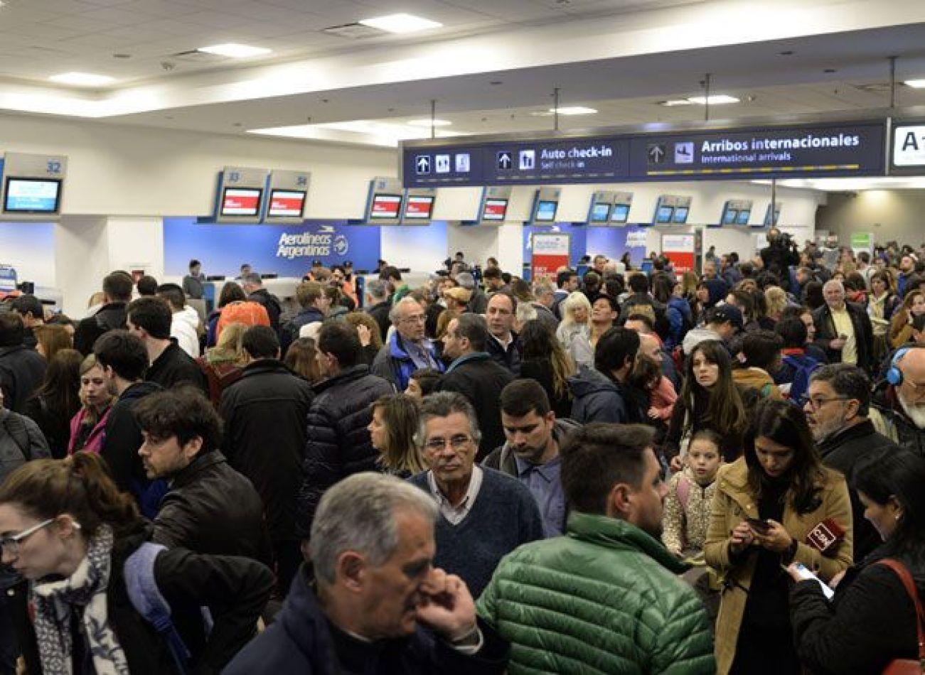 Aeropuerto sin vuelos por paro  de la CGT