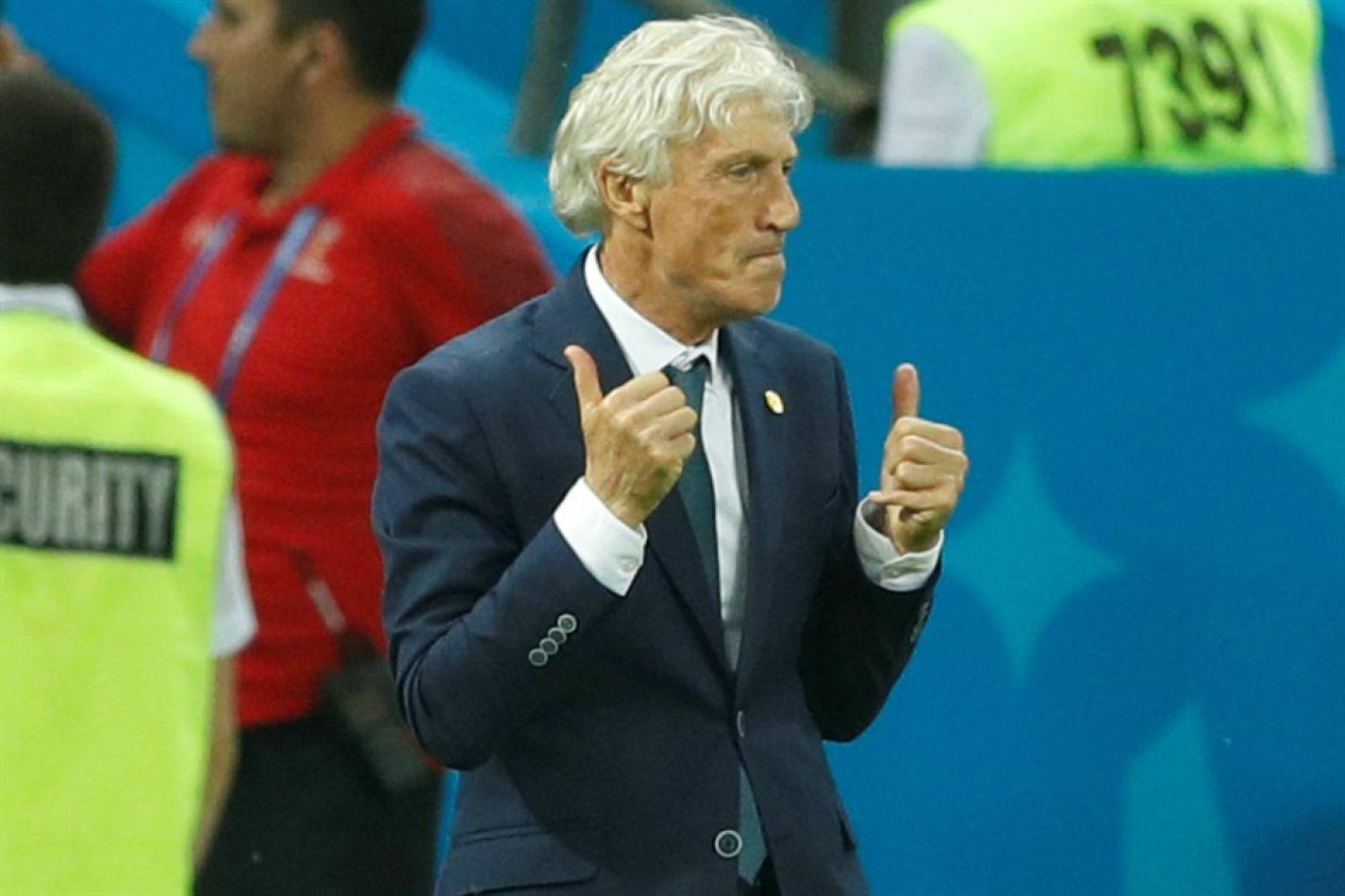 Pekerman celebra la victoria de Colombia sobre Polonia