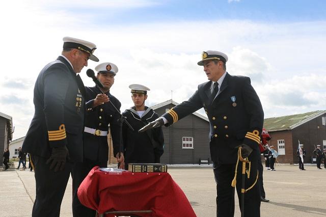 Cambio de mando en el BIM 5 y Destacamento Naval Río Grande