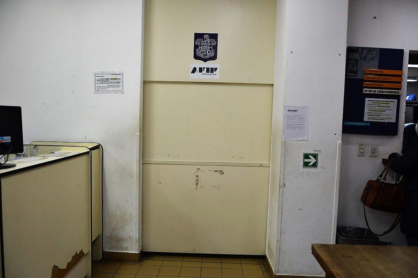Las dependencias de Aduana que funcionan en el Correo Argentino no atendieron al público.