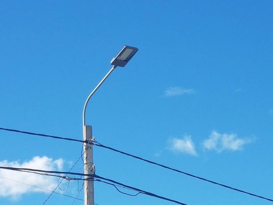 El municipio inició la modernización del alumbrado público con luminaria LED