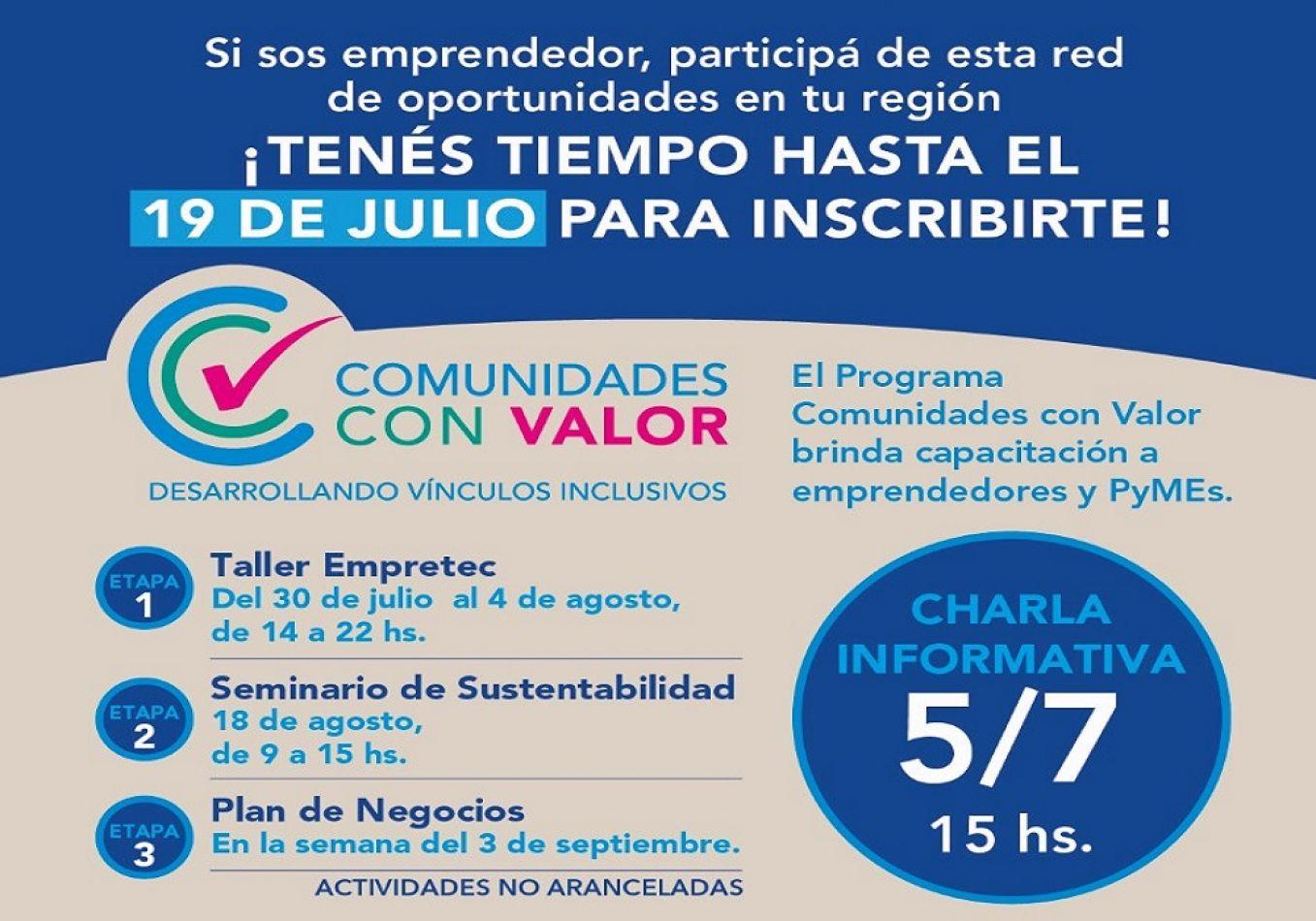 Se lanzó el programa Comunidades con Valor