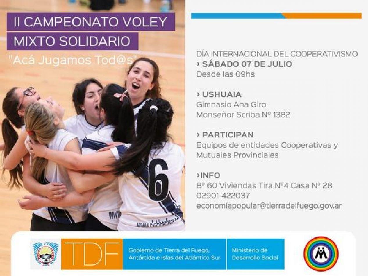 Segundo Campeonato de Voley Mixto Solidario