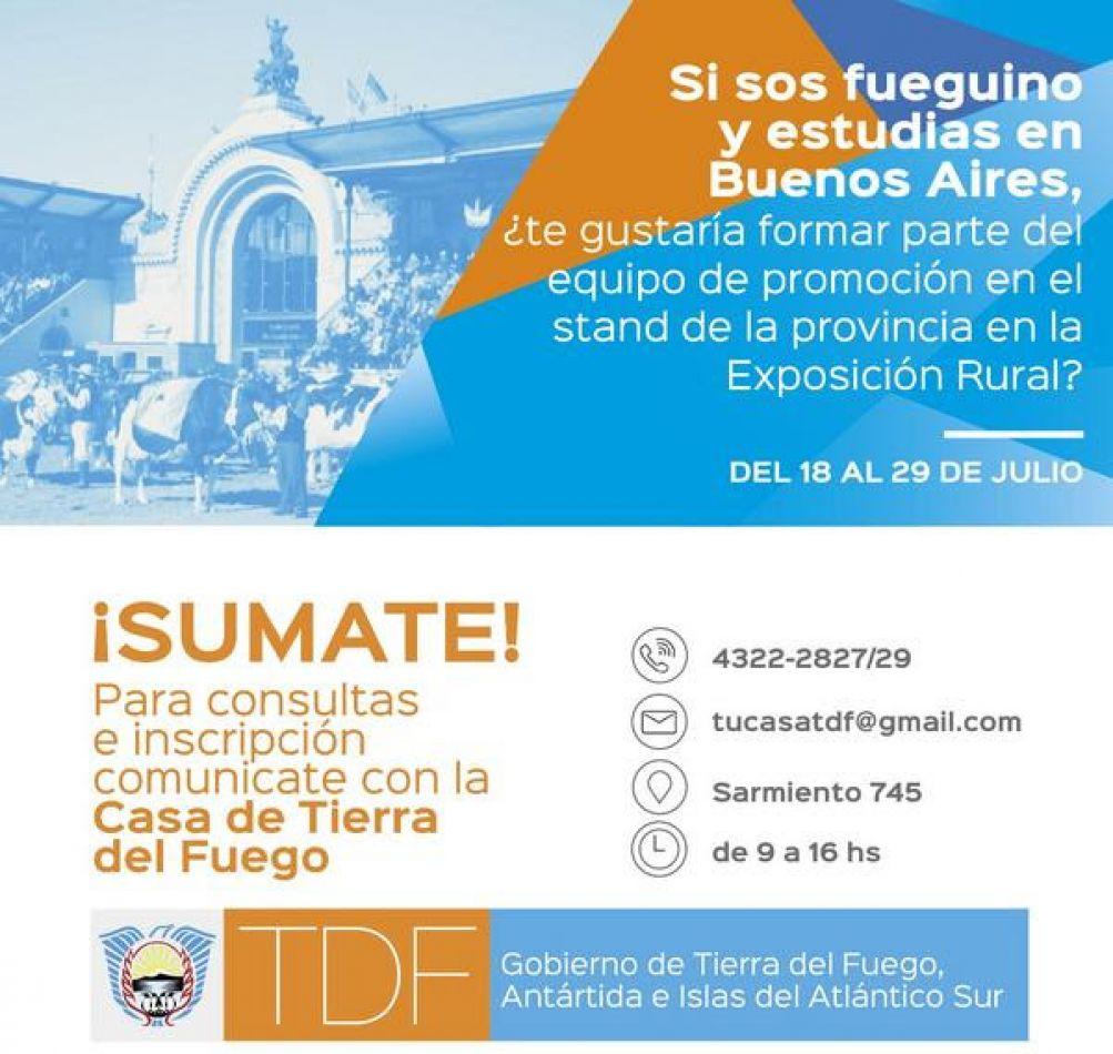 Convocatoria a estudiantes fueguinos que esten cursando sus carreras  Buenos Aires