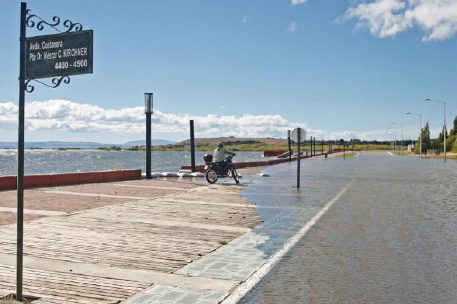 Inundación récord en El Calafate.