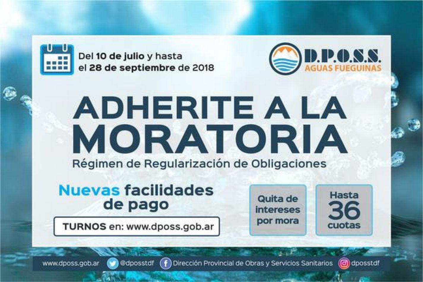 Dposs lanza nueva moratoria de cancelación de deudas