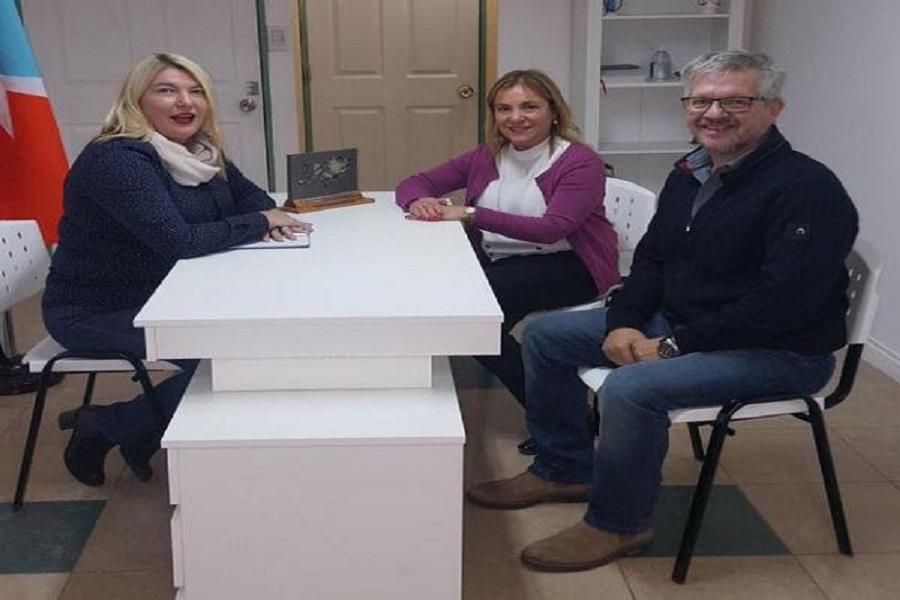 Actos por Malvinas: La gobernadora Bertone se reunió con la senadora Boyadjian.