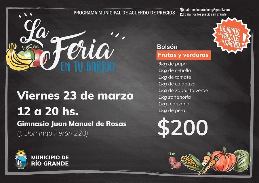 El municipio hará una nueva feria solidaria de precios en el B° Perón