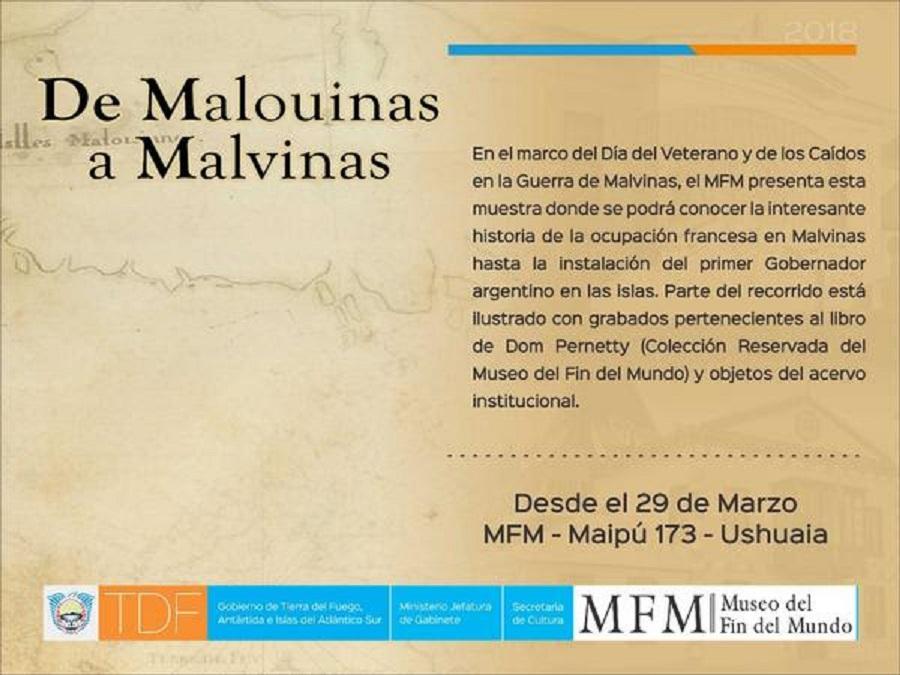 """Se presenta la  muestra """"De Malouinas a Malvinas"""""""