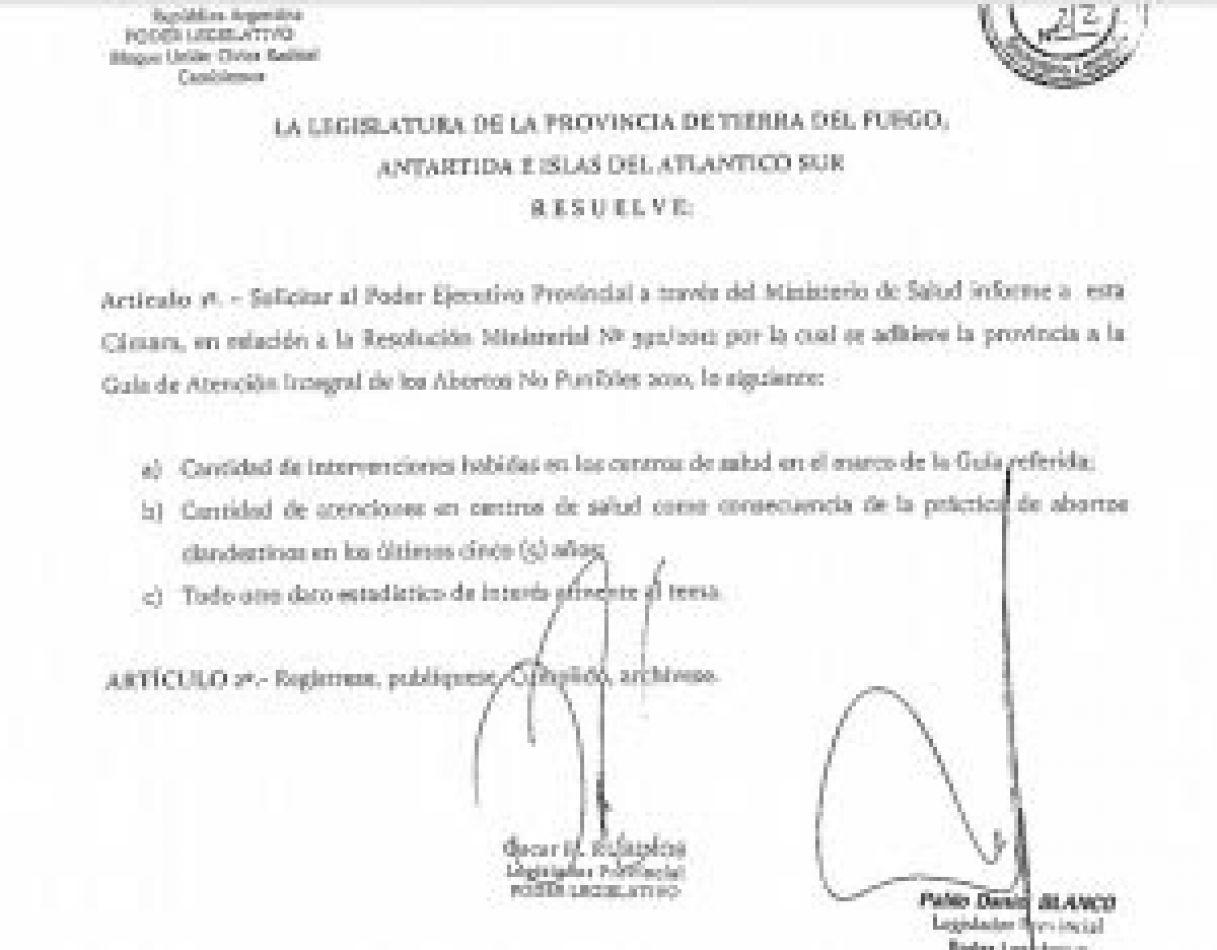 El documento legislativo, fue aprobado a instancias del debate que se da en el Congreso Nacional sobre la despenalización del aborto.
