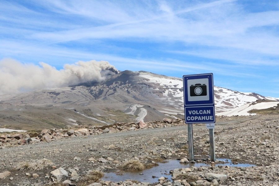 La patagonia en alerta amarilla por el volcán Copahue