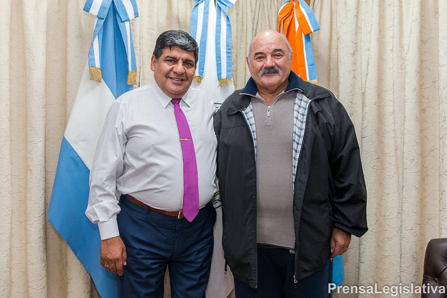 El vicegobernador Juan Carlos Arcando recibió en su despacho al VGM Rubén Marchetti