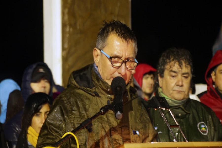 La Capital Nacional de la Vigilia acompañó a los combatientes a pesar de la lluvia