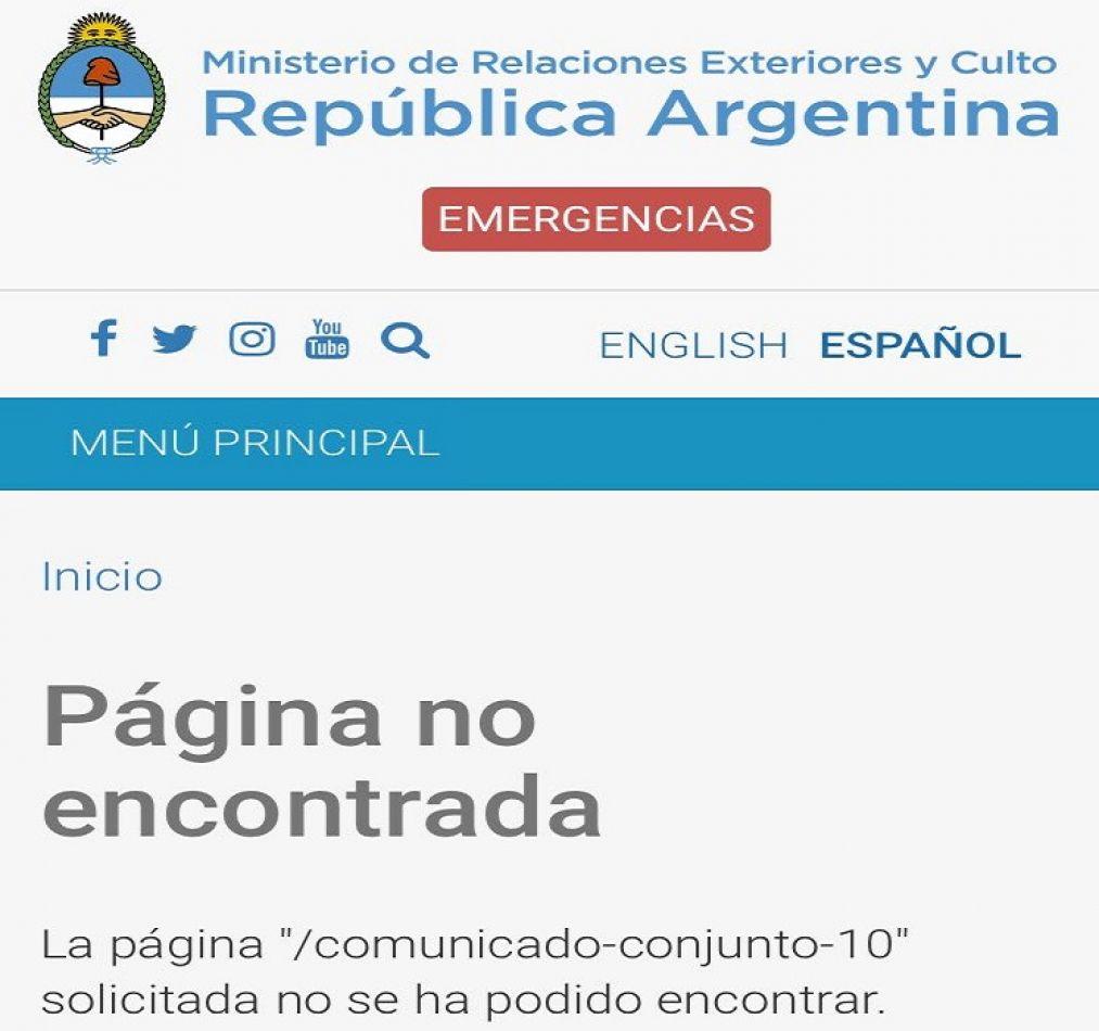 Sitio Oficial de la Cancilleria.
