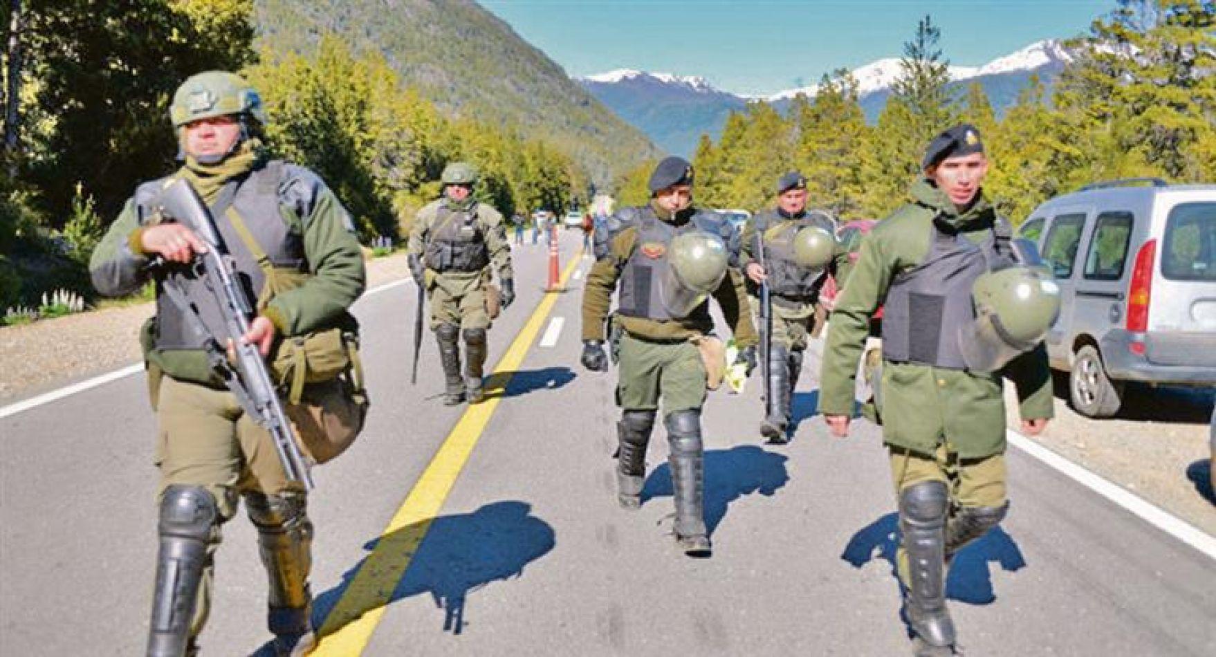 Incidentes. Mientras el Ministerio de Seguridad dijo que las fuerzas federales fueron agredidas por comunidades mapuches