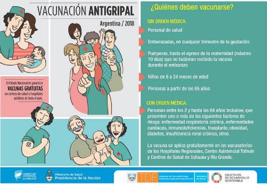 El lunes comenzará la campaña de vacunación antigripal 2018