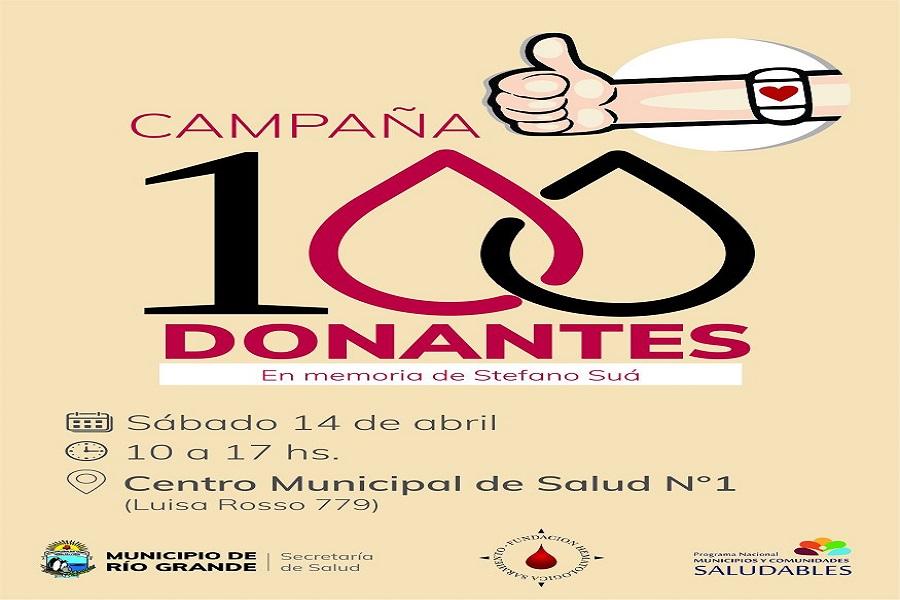 Campaña solidaria de donación de sangre en memoria de Stefano Suá