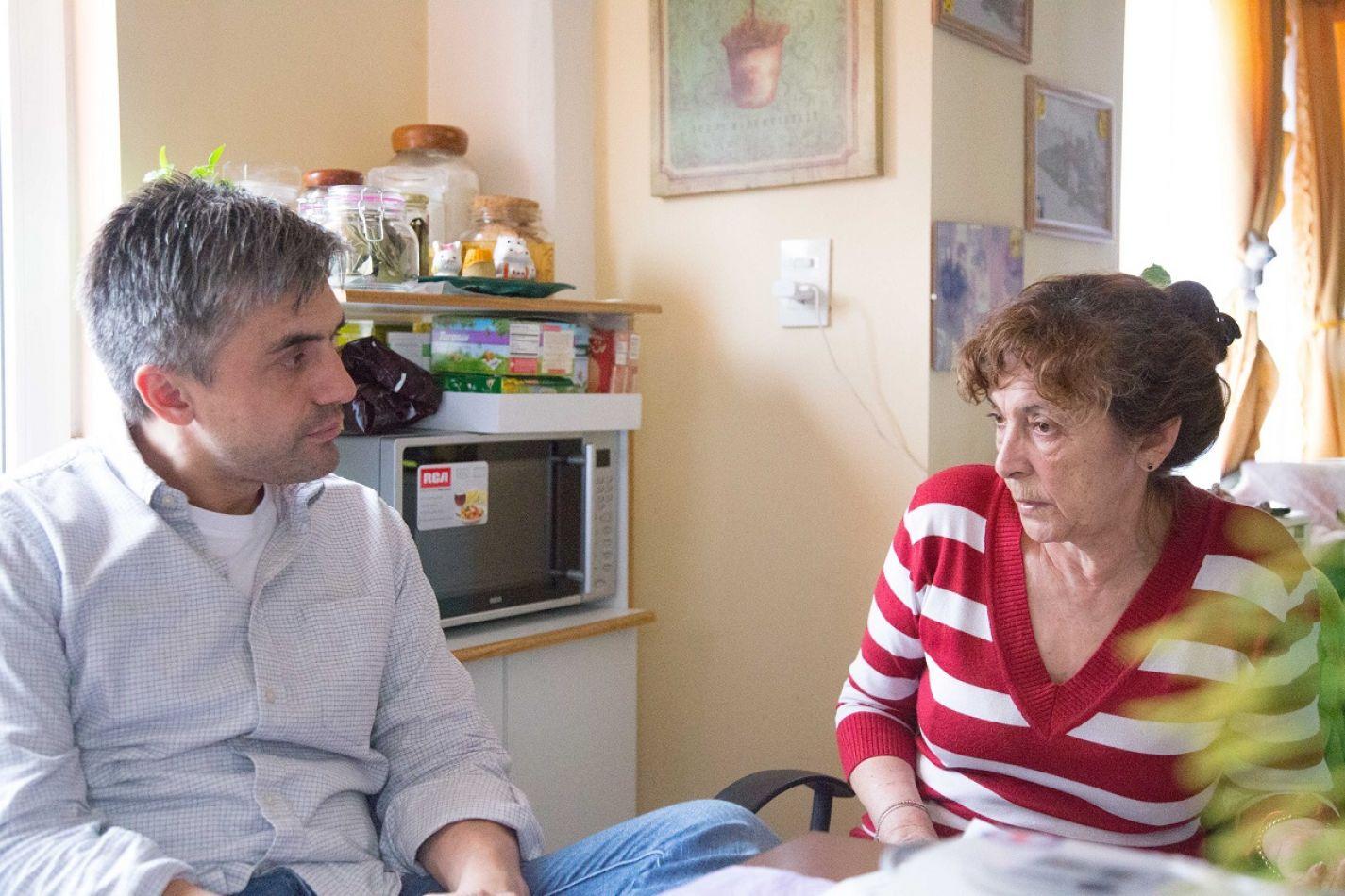 Paulino Rossi y María, juntos.