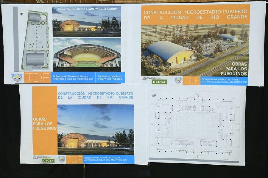 Se firmó el contrato para la construcción del Microestadio en Río Grande