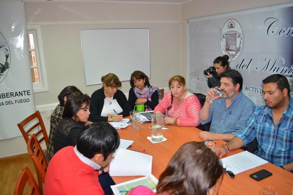 Concejales se reunieron con la secretaria de Obras Públicas del Municipio