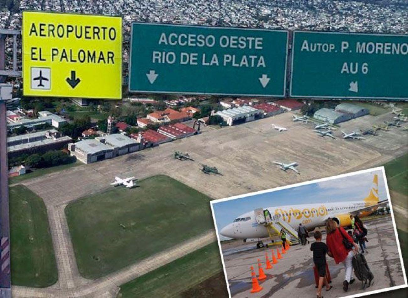 Por la llovizna, el aeropuerto El Palomar cesó sus actividades y la empresa debió suspender algunos de sus servicios.
