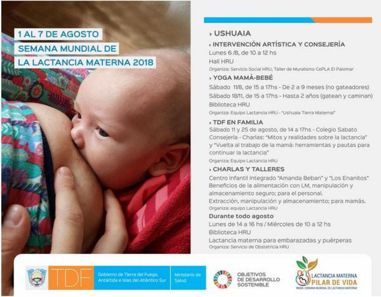 Semana Mundial de la Lactancia Materna, que se conmemora del 1 al 7 de agosto.