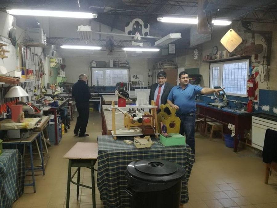 Arcando destacó la función educativa del Centro de Formación laboral Dr. Manuel Belgrano