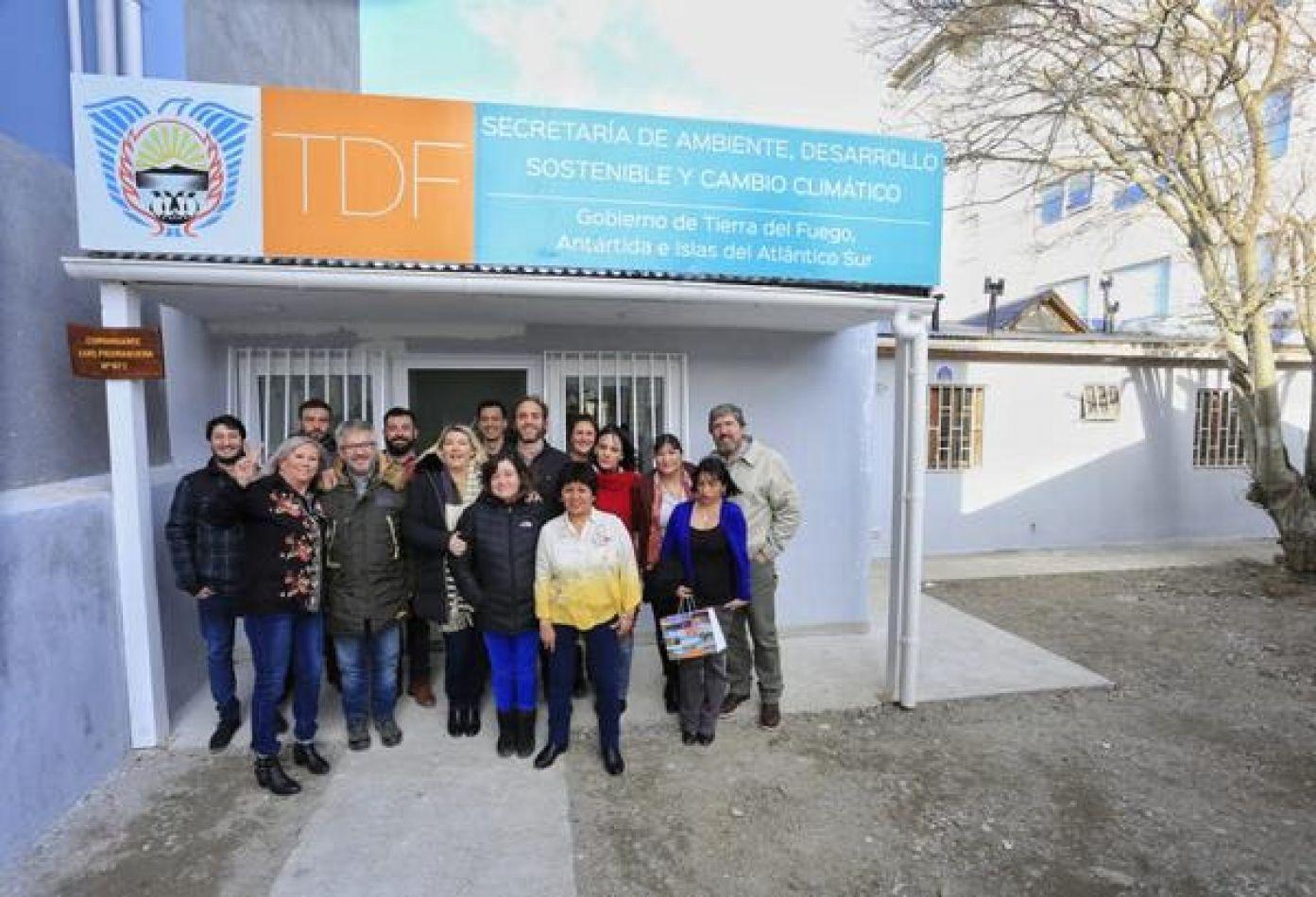Bertone recorrió las nuevas instalaciones de la Secretaría de Ambiente ,Desarrollo Sostenible y Cambio Climático