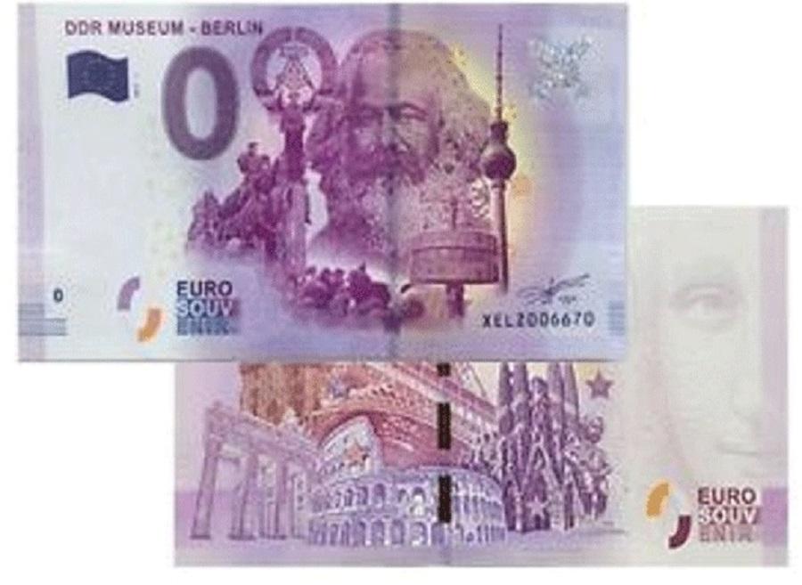 Billete de cero euros conmemorará el nacimiento de Karl Marx en Alemania
