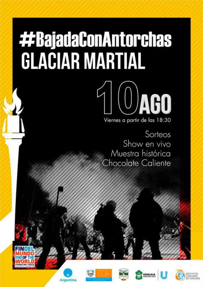 Nueva edición de la Bajada con Antorchas del Glaciar Martial