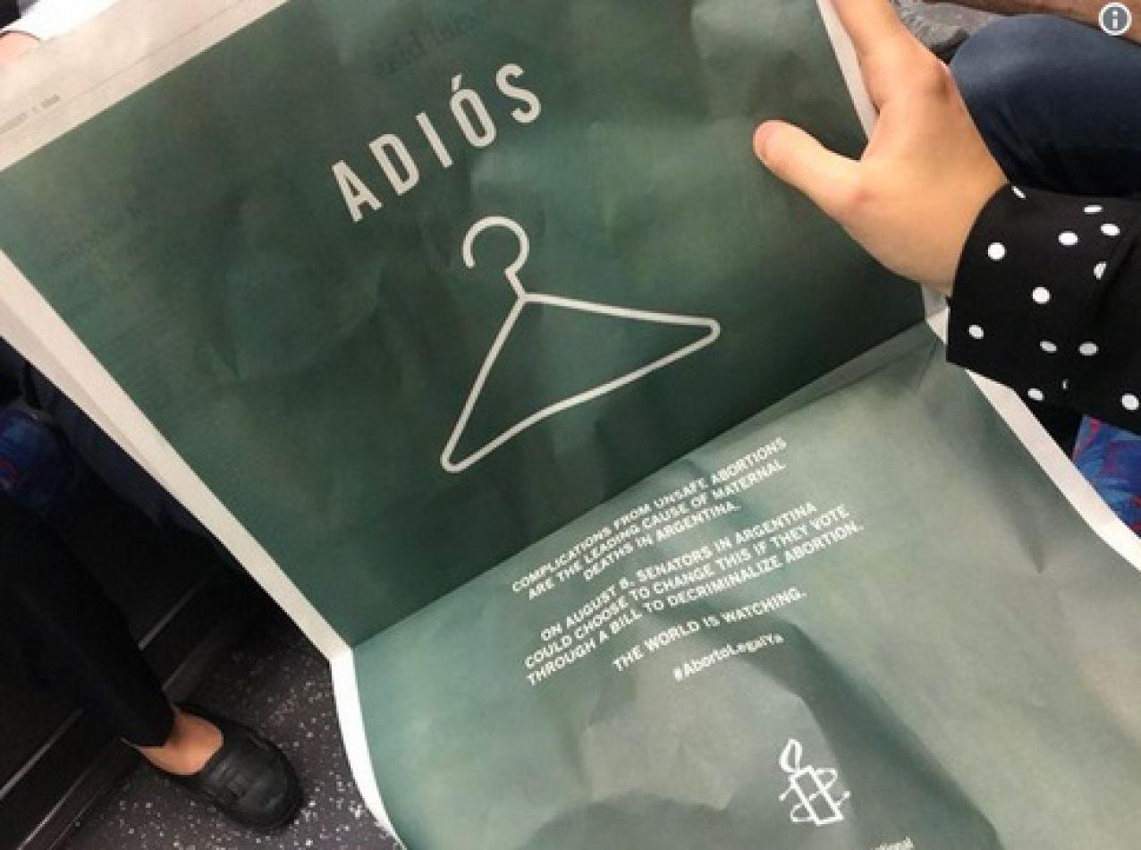 La contratapa del New York Time sobre el aborto en Argentina