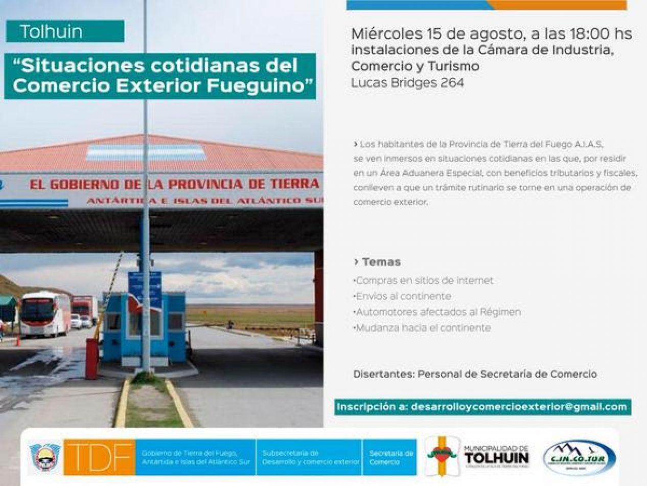 """Capacitación en """"Situaciones Cotidianas del Comercio Exterior Fueguino"""""""