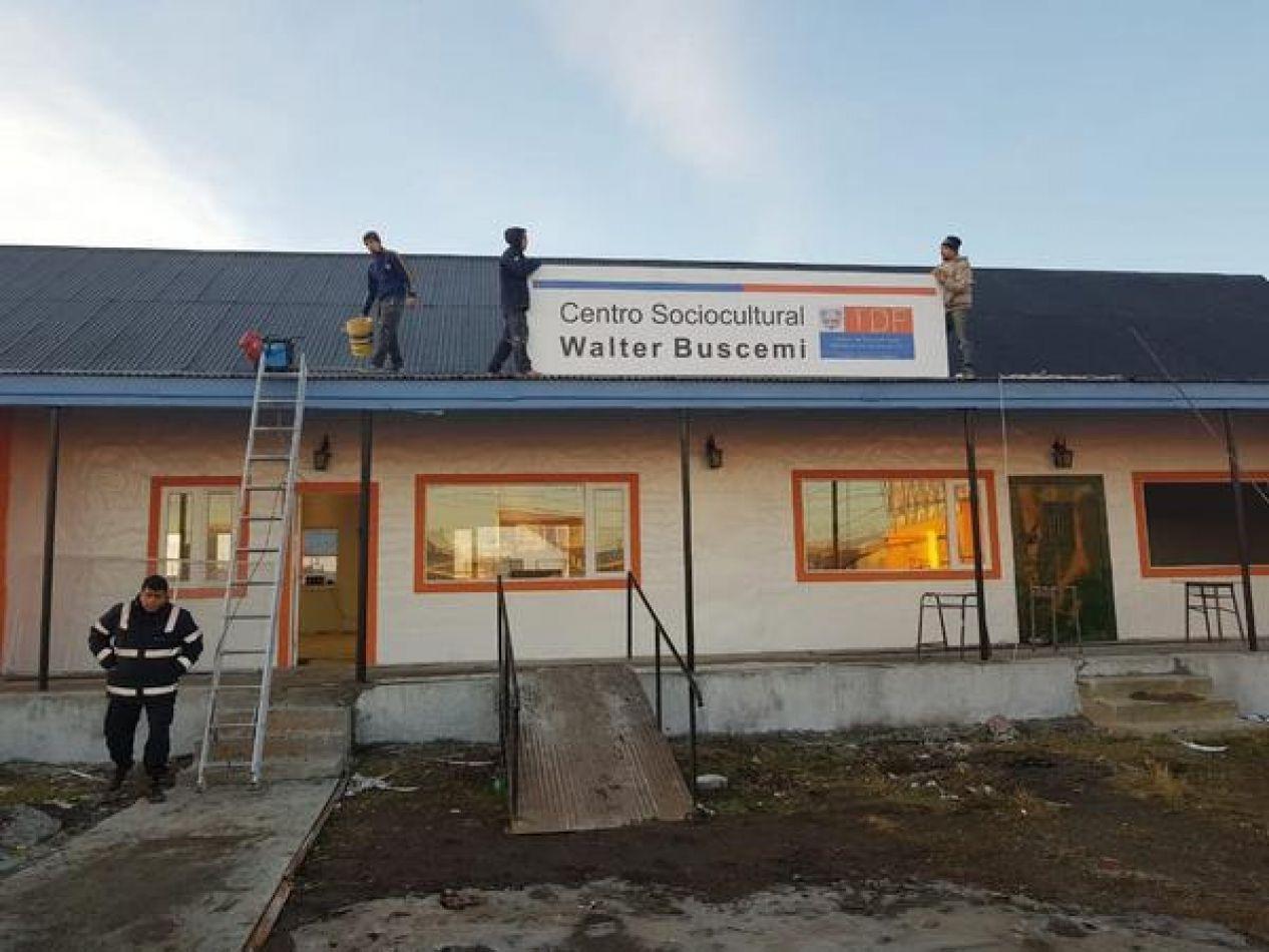 """Se anunció la pronta inauguración del Centro Sociocultural """"Walter Buscemi"""""""